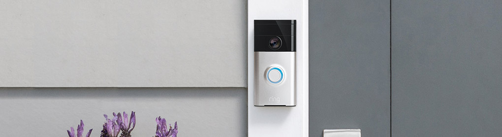 An Tür installierte Ring Video Doorbell
