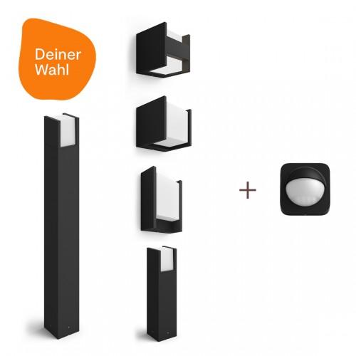 Philips Hue Fuzo 2er-Pack Deiner Wahl + Outdoor Sensor