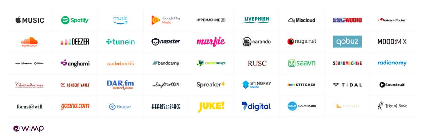 Sonos Streaming Dienste