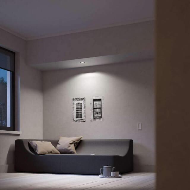 Philips Hue White Ambiance Milliskin - runder Einbauspot mit Dimmschalter