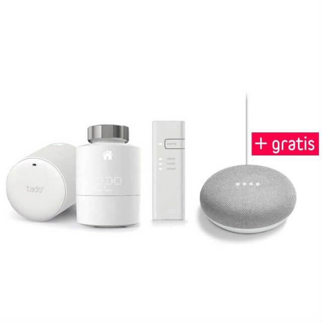 tado° Smartes Heizkörper-Thermostat 2er Starter Set + gratis Google Home Mini