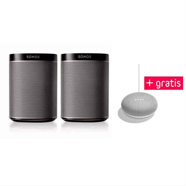 Sonos PLAY:1 Stereo Set + gratis Google Home Mini