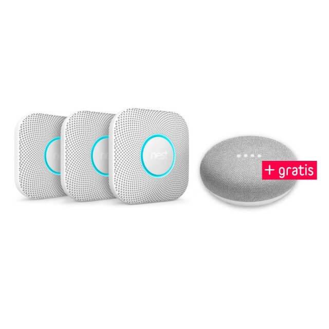 Nest Protect 3er Pack + gratis Google Home Mini