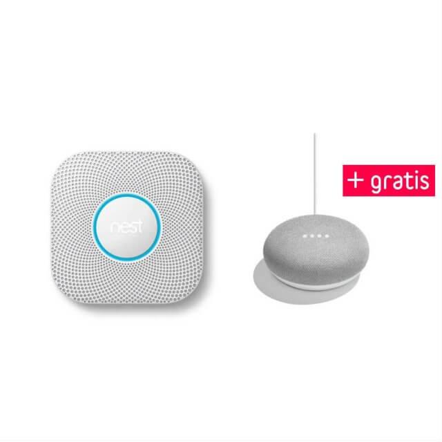 Nest Protect Rauch- und Kohlenmonoxidmelder + gratis Google Home Mini