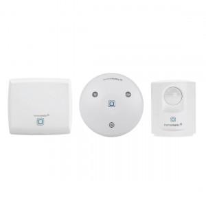 Homematic IP smarte Alarmsirene, Bewegungsmelder und Access Point von vorne