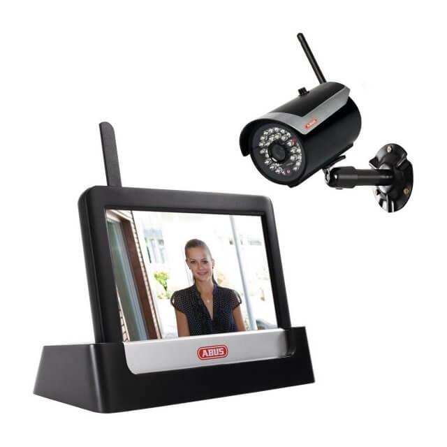 Abus Überwachungsmonitor und Videoüberwachungskamera
