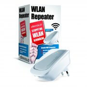 devolo WFi Repeater mit Produktverpackung