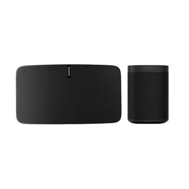 Sonos One + Sonos PLAY:5 WLAN Lautsprecher in schwarz