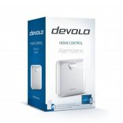 devolo Home Control Alarmsirene Verpackung in Schräger Ansicht