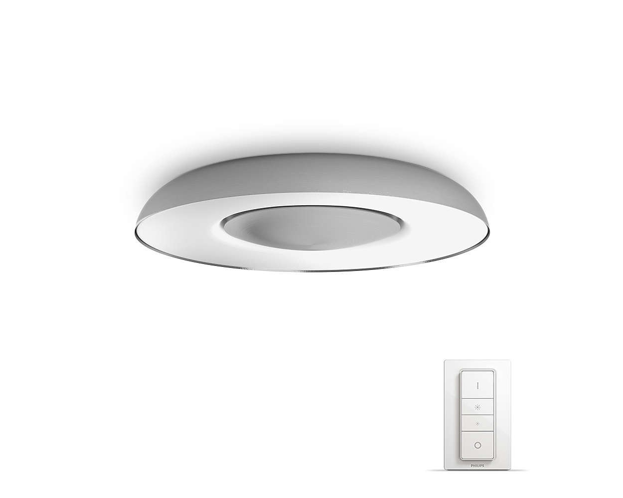 Philips Hue White Ambiance Still LED Deckenleuchte mit Dimmschalter ...