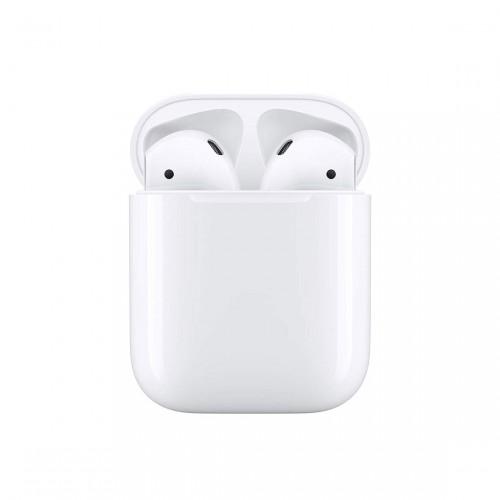 Apple airpods 2 kabellose köpfhörer im Ladecase von vorne