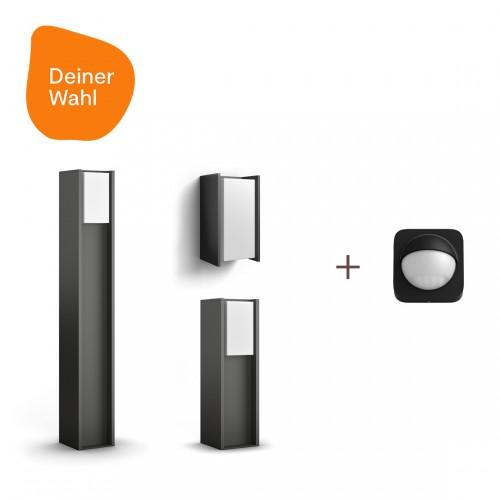 Philips Hue Turaco 3er-Pack Deiner Wahl + Outdoor Sensor