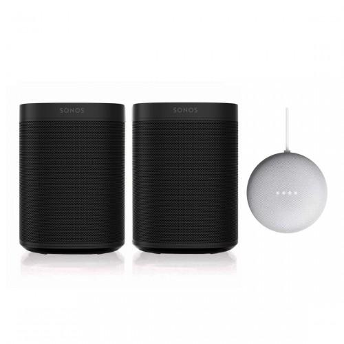 Sonos One + Sonos One SL + Google Nest Mini