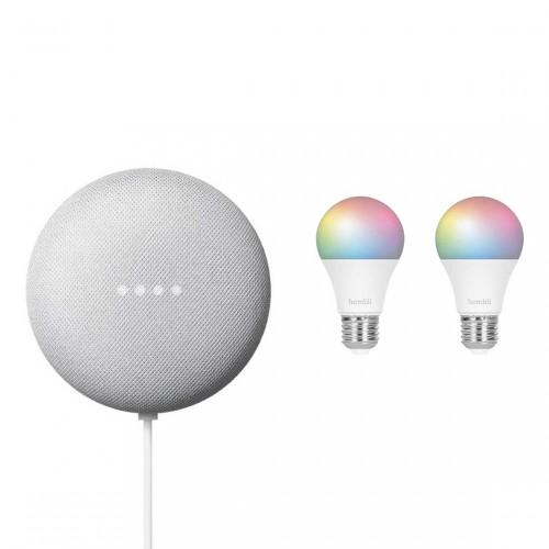 Google Nest Mini + Hombli Smart Bulb E27 Color + gratis E27 Color-Lampe (Default)