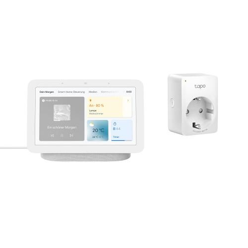 Google Nest Hub (2. Generation) + TP-Link Tapo P100 Mini Smart WLAN-Steckdose