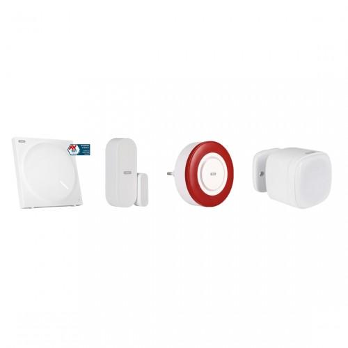 ABUS Z-Wave Sicherheits-Set Schutz vor Einbruch - Gateway+Innensirene+Tür-/Fensterkontakt+Multisensor