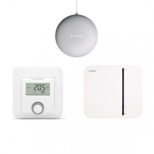 Bosch Smart Home Starter Set Fußbodenheizung + Google Nest Mini