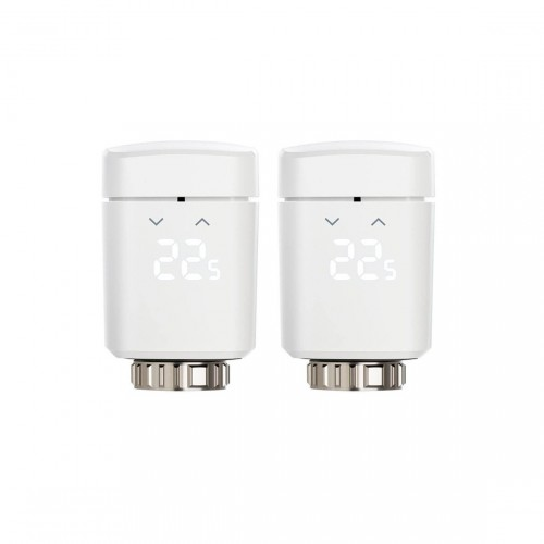Eve Thermo Doppelpack - Heizkörper-Thermostat mit Display & Touchbedienfeld