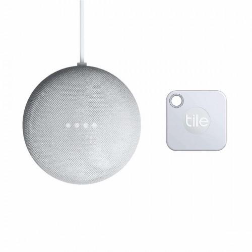 Google Nest Mini Smart Speaker + Tile Mate Schlüsselfinder