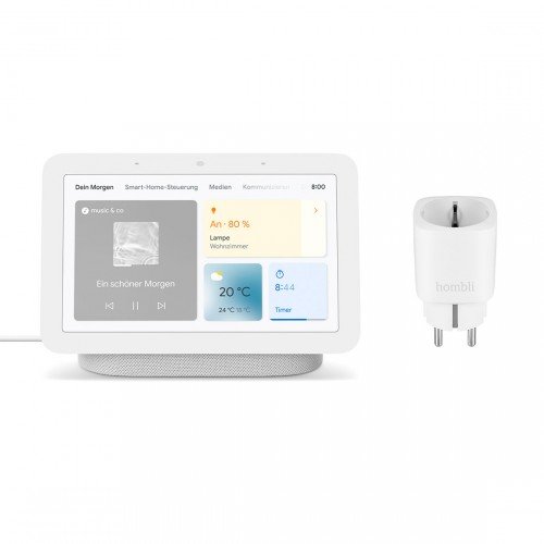 Google Nest Hub (2. Generation) + gratis Hombli Smarte Steckdose