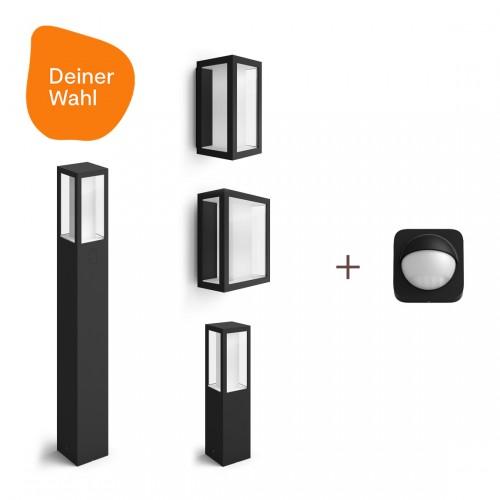 Philips Hue Impress 2er-Pack Deiner Wahl + Outdoor Sensor