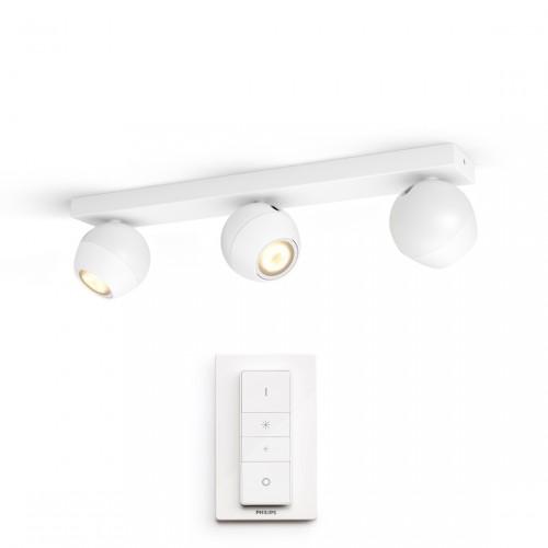 Philips Hue White Ambiance Buckram Spot 3flg. 3x350lm + Dimmschalter