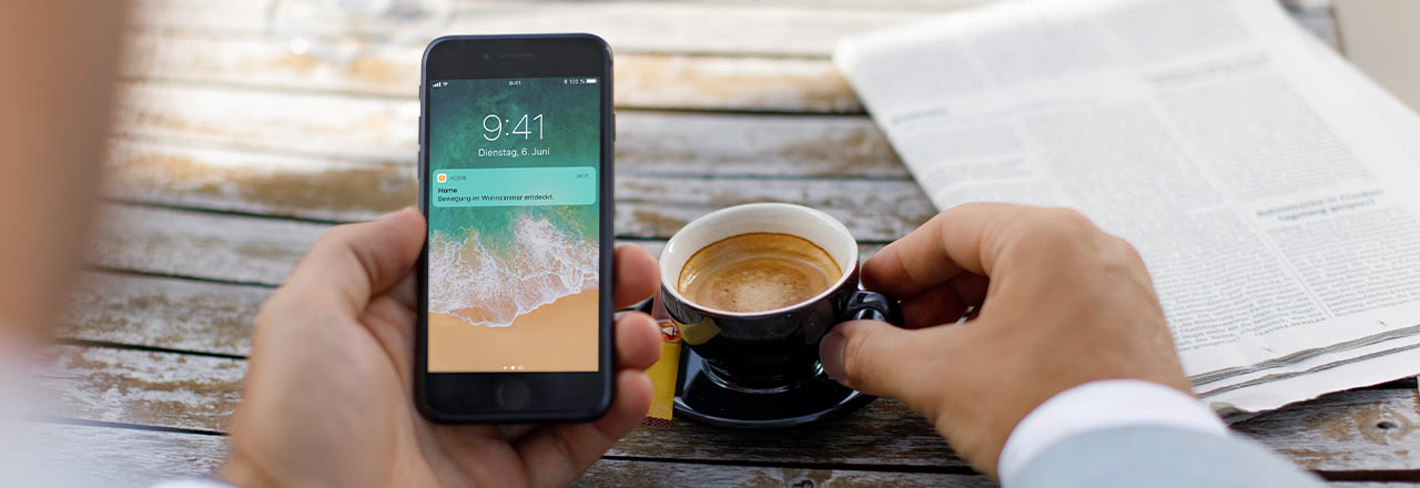 Eve Benachrichtigungen werden auf einem iPhone angezeigt