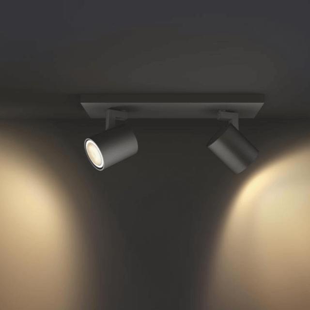 Philips Hue Runner LED 2-er Spot 2x250lm inkl. Dimmschalter