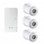 devolo Home Control Smartes Heizkörperpaket mit 3 Thermostaten