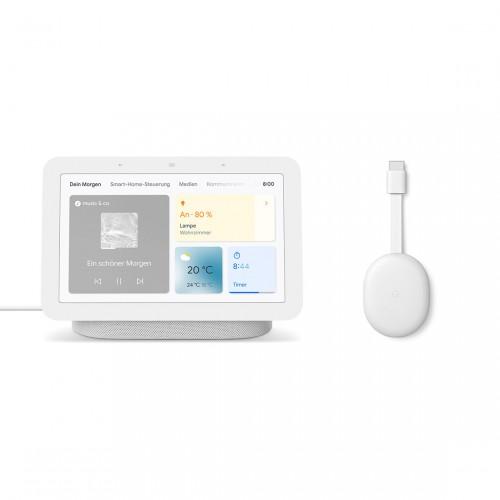 Google Nest Hub (2. Generation) smarter Sprachassistent und Chromecast mit Google TV