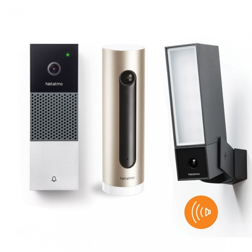 Netatmo Smarte Videotürklingel + Außenkamera mit Sirene + Innenkamera