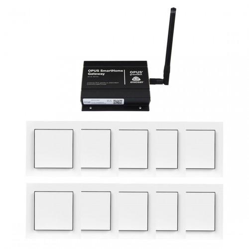 OPUS Komplett Set Licht - Gateway+ 10x Lichtschalter