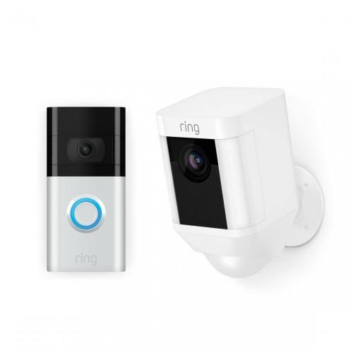 Ring Video Doorbell 3 + Ring Spotlight Cam Battery