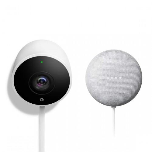 Google Nest Cam Outdoor + Google Nest Mini