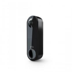 Arlo Wire Free Video Doorbell - Kabellose Video-Türklingel schwarz schräge Ansicht