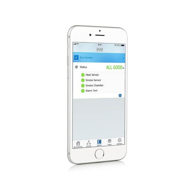 Elgato Eve Smoke kabelloser Rauchmelder App