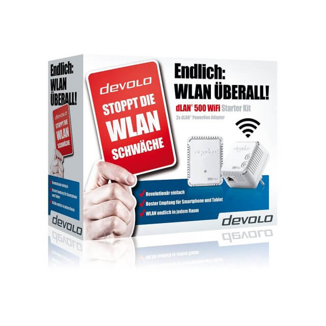 devolo dLAN 500 WiFi - Starter Kit Powerline
