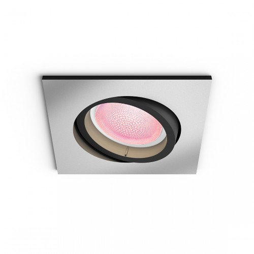 Philips Hue White and Color Ambiance Centura Bluetooth - Einbauspot, eckig grau