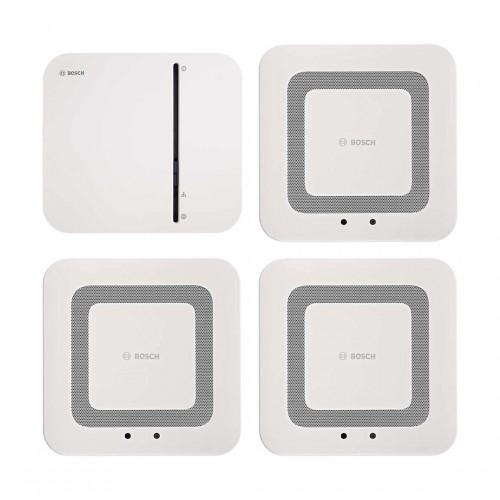 Bosch Smart Home Controller + Twinguard - Rauchwarnmelder 3er-Set