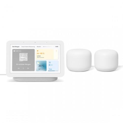 Google Nest Wifi 2er-Set + Google Nest Hub