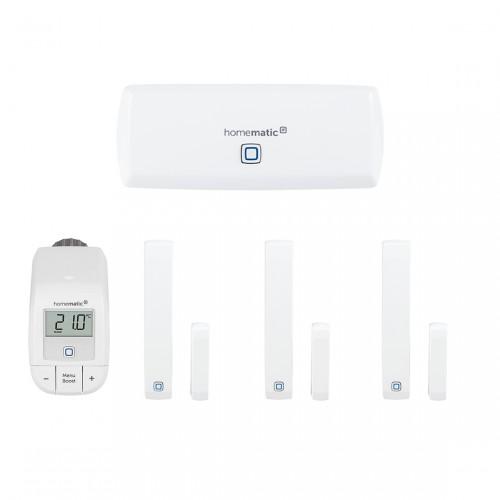 Homematic IP Starter Set Raumklima WLAN + 2 Fenster- und Türkontakt mit Magnet