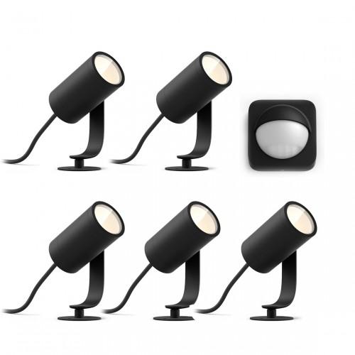 Philips Hue Lily Komplettset - LED Spots + gratis Outdoor Sensor