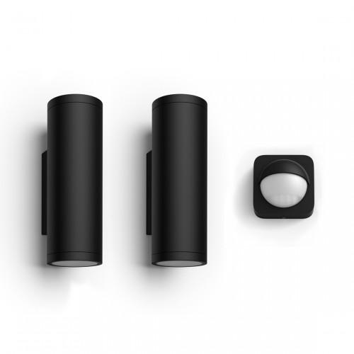 Philips Hue Wandleuchte Appear 2er-Pack + gratis Outdoor Sensor