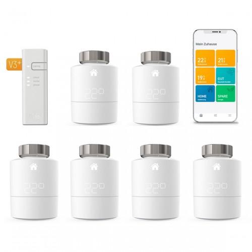 tado° Smartes Heizkörper-Thermostat Starter Kit V3+ mit 6 Thermostaten