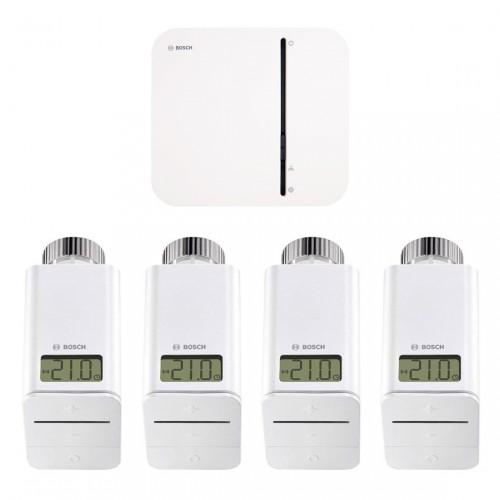 Bosch Smart Home - Starter Set Heizung mit 4 Thermostaten