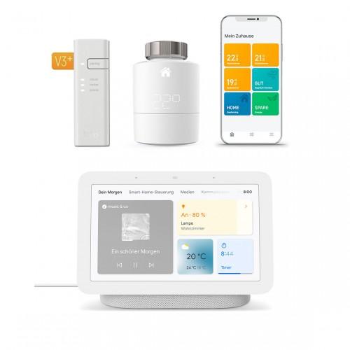 tado° Smartes Heizkörper-Thermostat Starter Kit V3+ und Google Nest Hub (2. Generation)