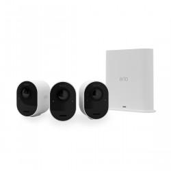 Arlo Ultra 2 VMS5340 - Kabelloses 4K-Überwachungssystem mit 3 Kameras
