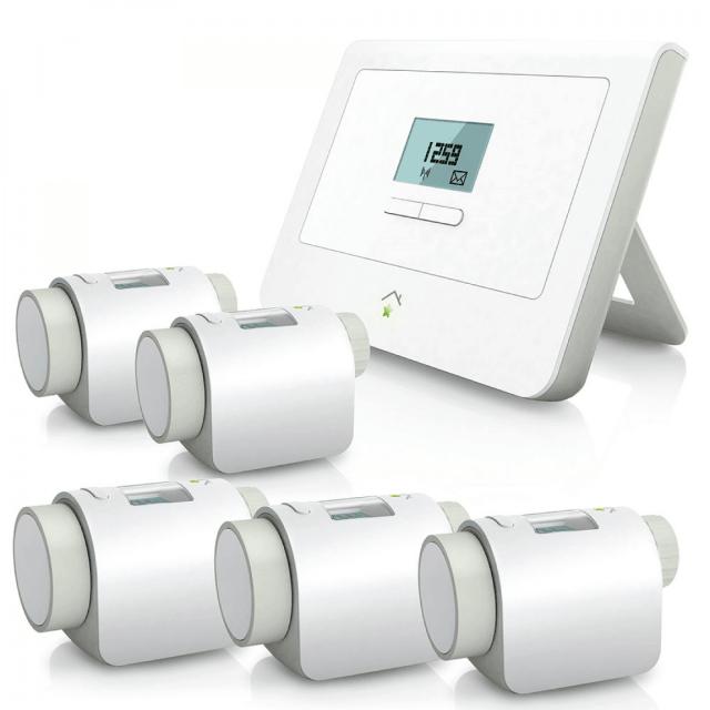 innogy SmartHome Paket Heizung mit Zentralen fünf Heizkörperthermostat