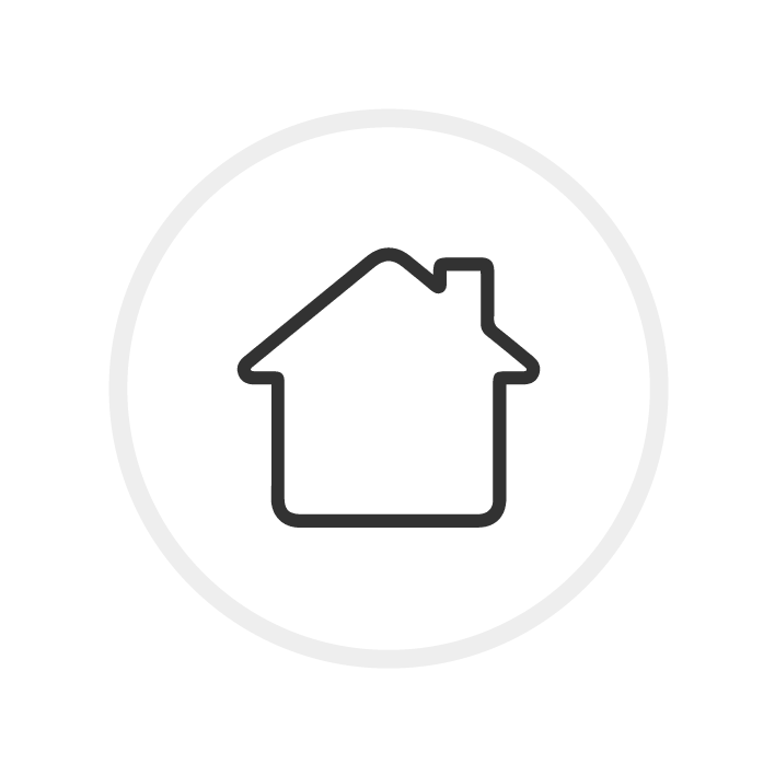 Icon Haus mit Kreis