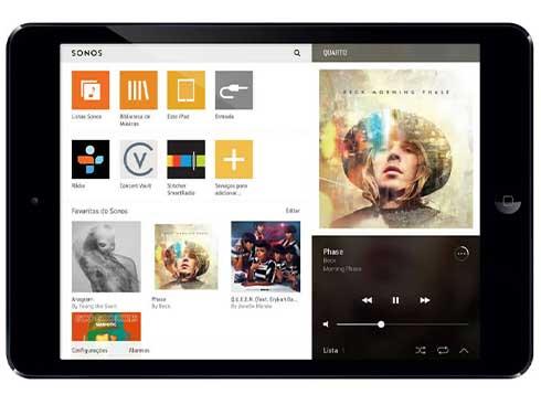 SONOS App auf Tablet
